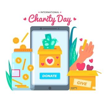 Dia internacional da ilustração de caridade