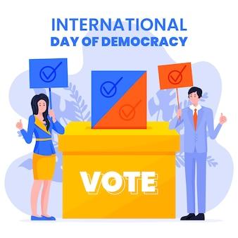 Dia internacional da ilustração de evento de democracia