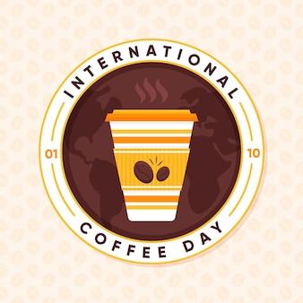 Dia internacional da ilustração do café
