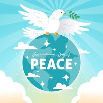 Dia internacional da mão desenhada do conceito de paz