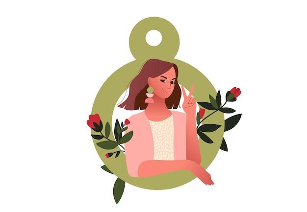 Dia internacional da mulher. 8 de março.