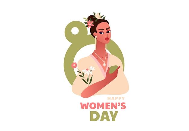Dia internacional da mulher. 8 de março. Vetor Premium