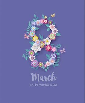 Dia internacional da mulher 8 de março