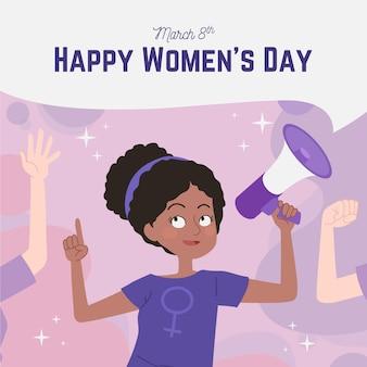 Dia internacional da mulher com desenho criativo