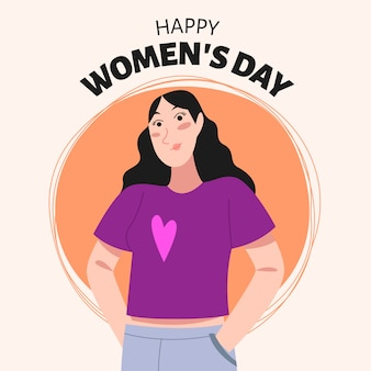 Dia internacional da mulher com saudação
