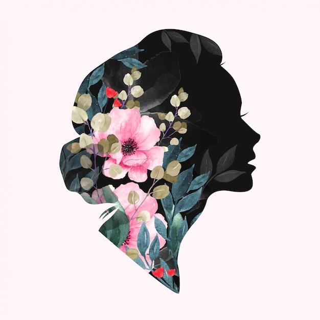 Dia internacional da mulher. desenho floral