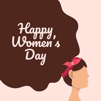 Dia internacional da mulher feliz.