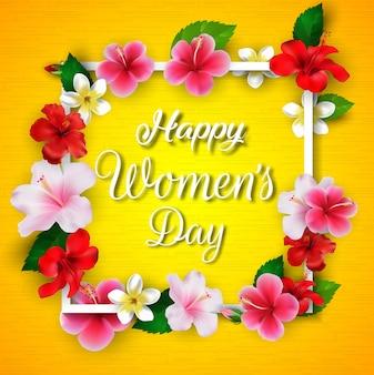 Dia internacional da mulher feliz
