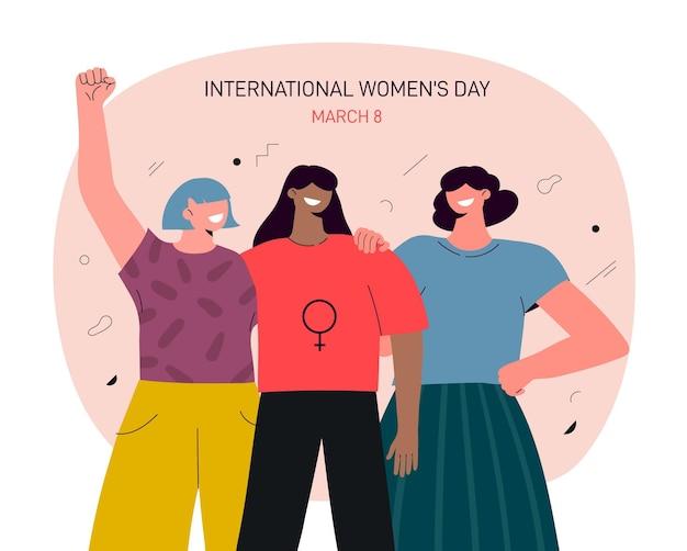 Dia internacional da mulher flat