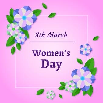 Dia internacional da mulher floral