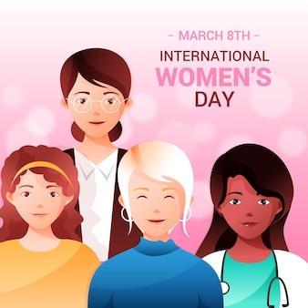 Dia internacional da mulher gradiente