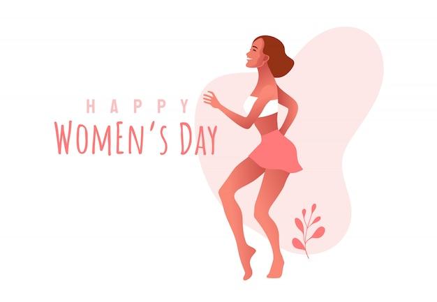 Dia internacional da mulher. marcha.
