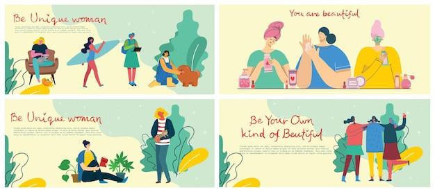 Dia internacional da mulher. para o conceito de poder das meninas, ideias femininas e feministas.