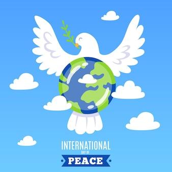Dia internacional da paz com a terra e o pássaro