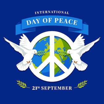 Dia internacional da paz com o símbolo da paz