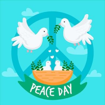 Dia internacional da paz com pombas