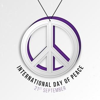 Dia internacional da paz no conceito de estilo de papel