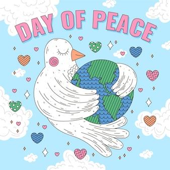 Dia internacional da paz plana