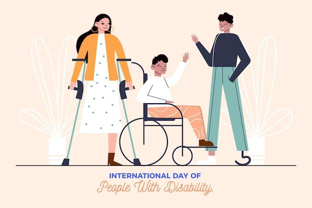 Dia internacional da pessoa com deficiência design plano