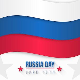 Dia internacional da rússia de design plano 12 de junho