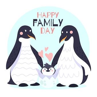 Dia internacional das famílias com pinguins