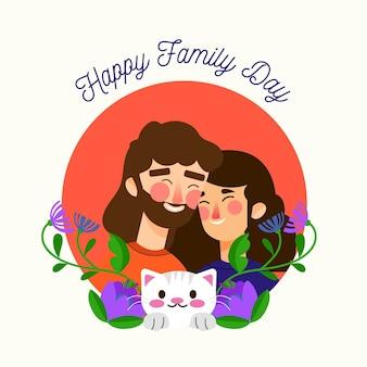 Dia internacional das famílias ilustrado