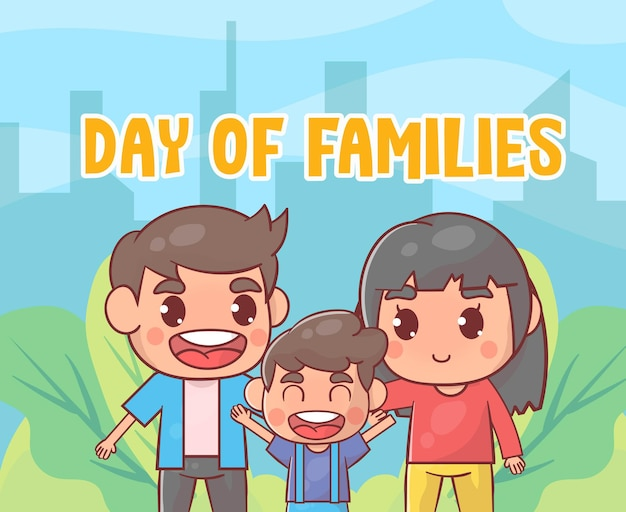 Dia internacional das familias Vetor Premium