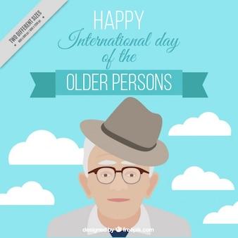 Dia internacional das pessoas fundo mais velhos