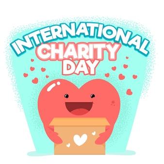 Dia internacional de caridade com coração