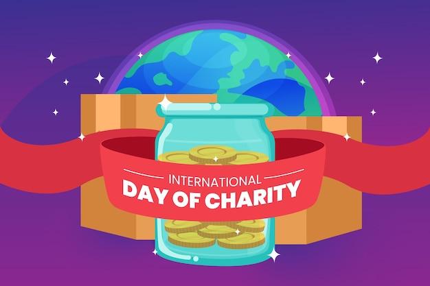 Dia internacional de caridade com o planeta