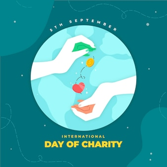 Dia internacional de caridade dar e receber