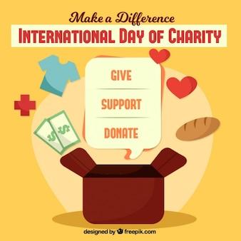 Dia internacional de fundo de caridade