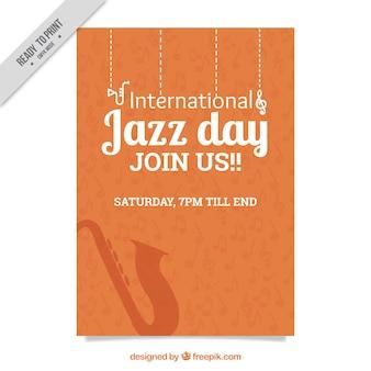 Dia internacional de laranja da brochura jazz