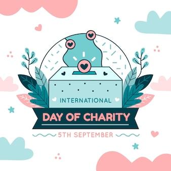 Dia internacional de mão desenhada de fundo de caridade