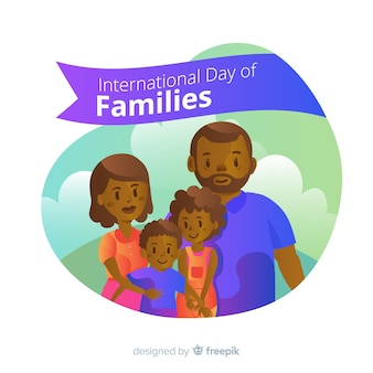 Dia internacional do background das famílias