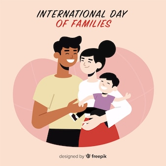 Dia internacional do background das famílias