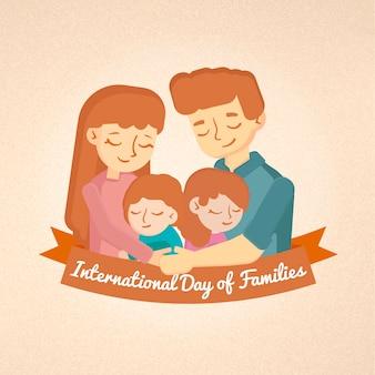 Dia internacional do cartão de famílias