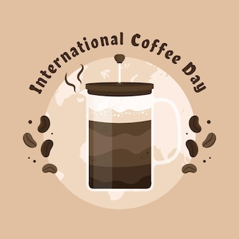 Dia internacional do conceito de café