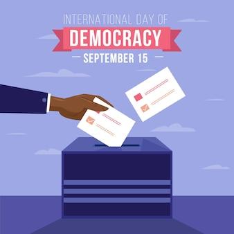 Dia internacional do conceito de evento de democracia