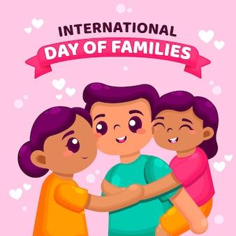 Dia internacional do conceito de ilustração de famílias