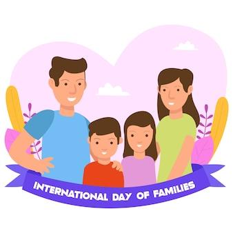 Dia internacional do conceito de ilustração familiar para página de destino e site
