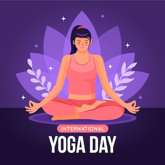 Dia internacional do design ilustração de ioga