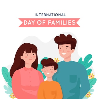 Dia internacional do design plano das famílias