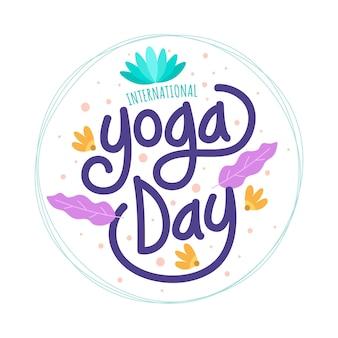 Dia internacional do design plano de yoga