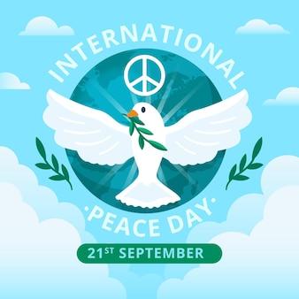 Dia internacional do design plano do conceito de paz