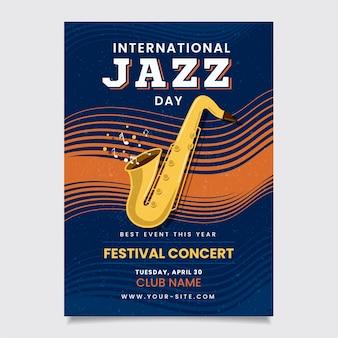 Dia internacional do jazz de design vintage