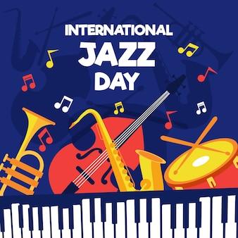 Dia internacional do jazz de estilo simples