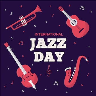 Dia internacional do jazz de estilo simples