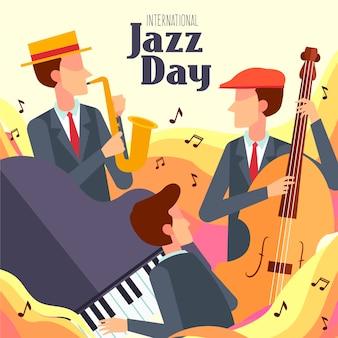 Dia internacional do jazz em design plano