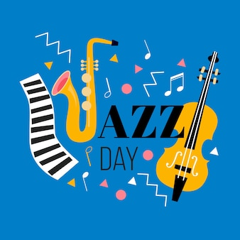 Dia internacional do jazz plano